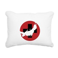 Japan Aid TRANS Rectangular Canvas Pillow