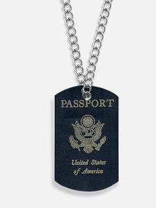Passport Dog Tags