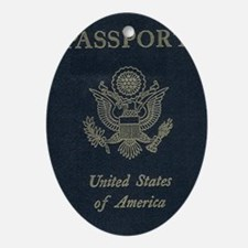 Passport Oval Ornament