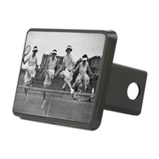 Women with Tennis Rackets Hitch Cover