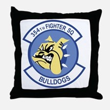 354th Fighter Squadron Throw Pillow