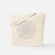 White Harmonic Grid Tote Bag