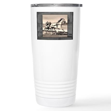 GreyhoundPrint1 Stainless Steel Travel Mug