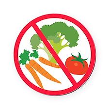 No Veggies Round Coaster