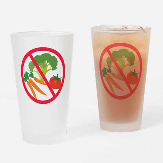 No Veggies Drinking Glass