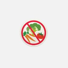 No Veggies Mini Button