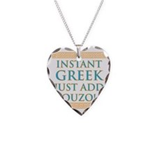 Instant Greek Necklace Heart Charm