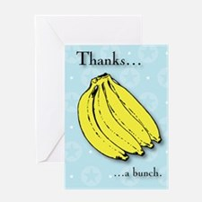 Banana bunch thank you greeting card Greeting Card