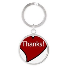 My heart says Thanks! Round Keychain