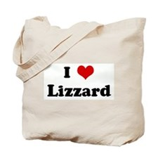 I Love Lizzard Tote Bag