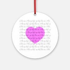 10-10-heart-2 Round Ornament