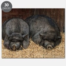 Pot Bellied Pigs Lisbon Zoo_July_2008-1 Alv Puzzle