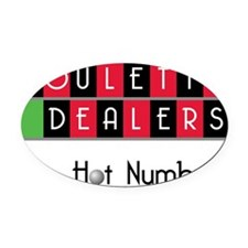 hotnumbers Oval Car Magnet