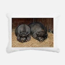 Pot Bellied Pigs Lisbon  Rectangular Canvas Pillow