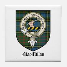 MacMillan Clan Crest Tartan Tile Coaster