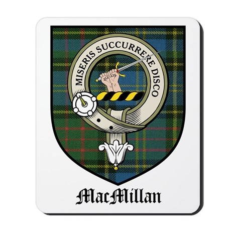 MacMillan Clan Crest Tartan Mousepad