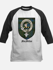 MacMillan Clan Crest Tartan Kids Baseball Jersey