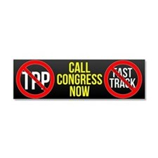 No TPP - Call Congress Now Car Magnet 10 X 3