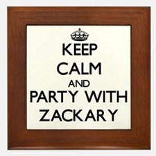Keep Calm and Party with Zackary Framed Tile