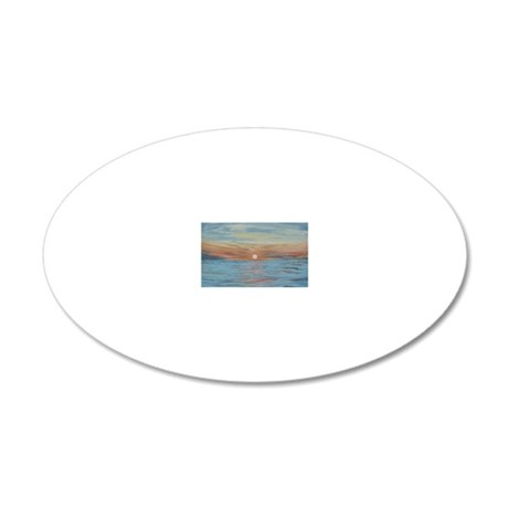 cozumel-notecard 20x12 Oval Wall Decal