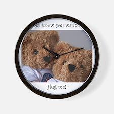 teddy bears 2 Wall Clock