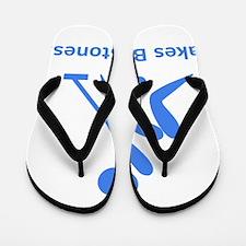 Curling Stones Blue Flip Flops