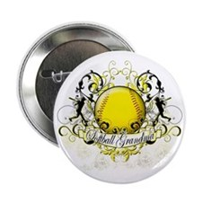 "Softball Grandma 2.25"" Button"
