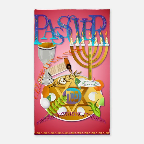LargePoster Pass Over Seder 3'x5' Area Rug