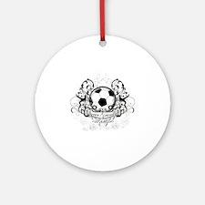 Soccer Grandma Round Ornament