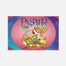 Pass Over Seder oval_sticker Rectangle Magnet
