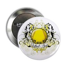 "Softball Aunt 2.25"" Button"