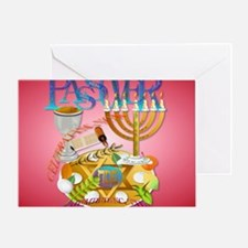 Pass Over Seder_mpad Greeting Card