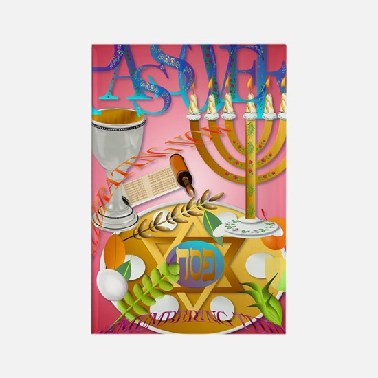 Passover Seder PosterP Rectangle Magnet