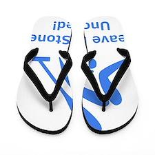 Uncurled Blue Flip Flops
