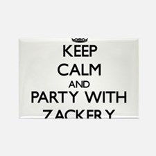 Keep Calm and Party with Zackery Magnets