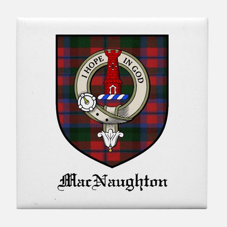 MacNaughton Clan Crest Tartan Tile Coaster