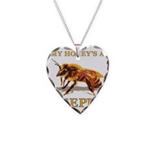 My Honey Is A Keeper Necklace Heart Charm