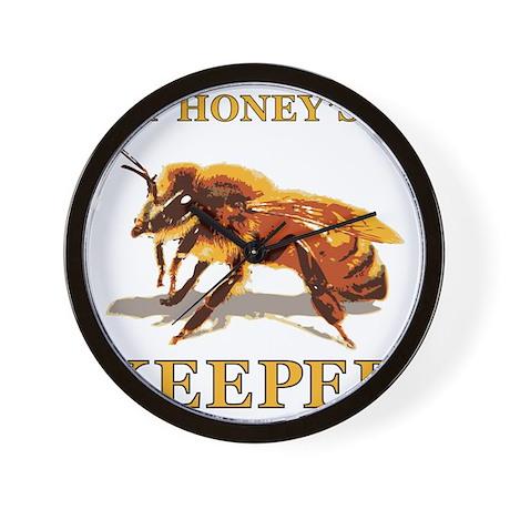 My Honey Is A Keeper Wall Clock