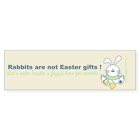 Easter rabbit Bumper Sticker
