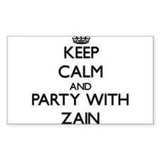 Keep Calm and Party with Zain Decal