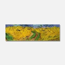 Van Gogh Wheatfield Wraparound Car Magnet 10 x 3