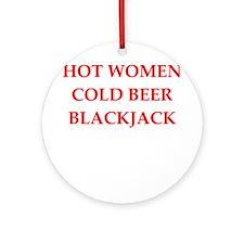 blackjack Ornament (Round)