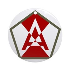 15th Army Round Ornament