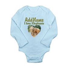 ELEPHANT LOVE Long Sleeve Infant Bodysuit
