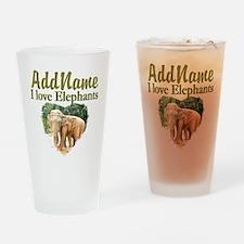 ELEPHANT LOVE Drinking Glass