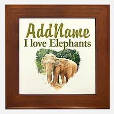 ELEPHANT LOVE Framed Tile