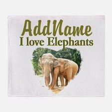 ELEPHANT LOVE Throw Blanket
