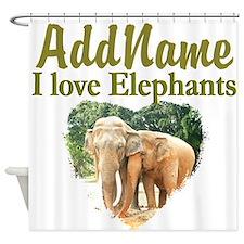 ELEPHANT LOVE Shower Curtain