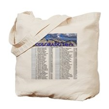 CO 14ers List T-Shirt NO BKGRND Tote Bag