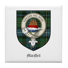 MacNeil Clan Crest Tartan Tile Coaster